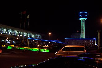 Shenyang Taoxian International Airport - Neon-based exterior and control tower