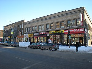 Notre-Dame-de-Grâce - Shops along Sherbrooke Street West in Notre-Dame-de-Grâce.