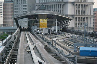 Shiodome Station railway station and metro station in Minato, Tokyo, Japan