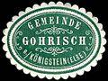 Siegelmarke Gemeinde Gohrisch bei Königstein - Elbe W0253229.jpg