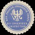 Siegelmarke K.Pr. Ingenieru Corps 3te Ingenieur Inspection W0348223.jpg