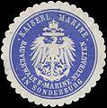 Siegelmarke K. Marine Bauverwaltung für Marine-Neubauten in Sonderburg W0383324.jpg