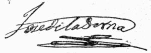 José de la Serna e Hinojosa - Image: Signature J Serna