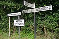 Signs at Aston Upthorpe - geograph.org.uk - 939197.jpg