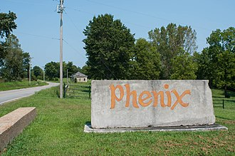 Phenix, Missouri - Sign in front of the quarry entrance