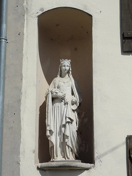 Sionviller (M-et-M) statue dans niche maison