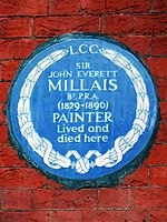 Sir John Everett Millais BT PRA 1829-1896 painter lived and died here.jpg