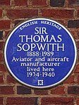 Sir Thomas Sopwith 1888-1989 aviator and aircraft manufacturer lived here 1934-1940.jpg