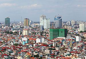 Asian Network of Major Cities 21 - Image: Skyline hanoi