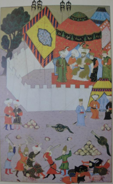 Slaying of Serbian knight at Kosovo, by Nakkaş Osman.png
