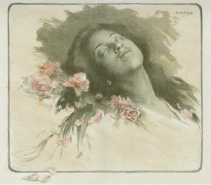 Glimmande nymf - Image: Sleeping woman Artigue