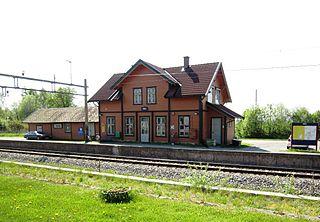 Slitu Station railway station in Eidsberg, Norway