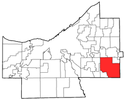 Location of Solon in Cuyahoga County