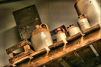 Cider - Cider jugs. Somerset, England
