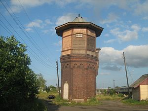 Sonkovo railway station - Image: Sonkovo tower