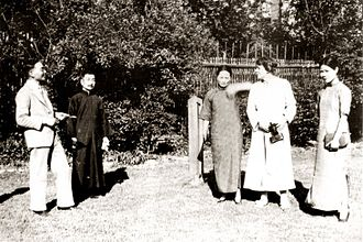 Smedley (second from the right) with Soong Ching-ling (third from right), 1930s Soong, Lin, Lu and Smedley.jpg