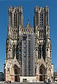 South-West Facade of Notre-Dame de Reims during renovation 20140306.jpg