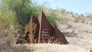 South Mountain Park - Monument at the entrance of the South Mountain Park