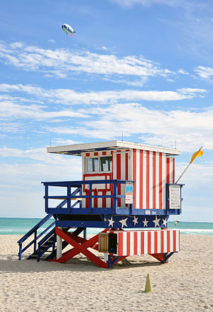 South Beach Miami lifeguard post 2009