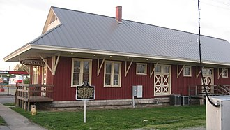 Seymour, Indiana - The Southern Indiana Railroad Freighthouse in Seymour is listed on the National Register of Historic Places