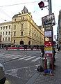 Spálená, zastávka Lazarská, městský soud.jpg