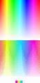 Spatial color quantization - rainbow, 4 colors.png
