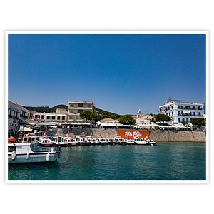 Spetses - The new port of Spetses