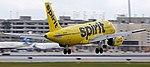 Spirit Airlines Airbus A319 (N503NK) landing at FLL.jpg