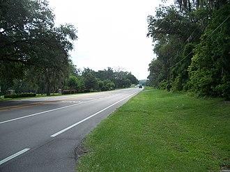 St. Leo, Florida - Eastbound SR 52 in St. Leo