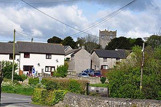 St Athan - The village and parish church in the distance