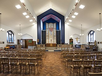 St Barnabas's, Bethnal Green - Interior of the church