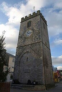 St Leonards Tower, Newton Abbot clock tower in Newton Abbot, Devon, England