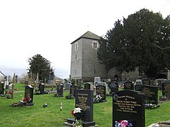 Bronllys Church Tower and graveyard