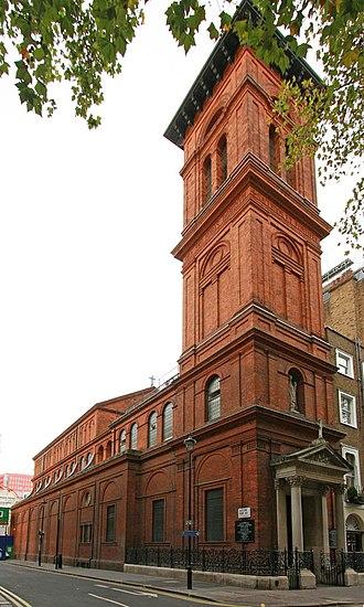 St Patrick's Church, Soho Square - Image: St Patrick, Soho Square (geograph 2644207)