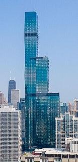 St. Regis Chicago Supertall Skyscraper in Chicago, Illinois, U.S.A