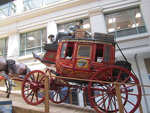 National Postal Museum - Image: Stagecoach exhibit, National Postal Museum IMG 4368