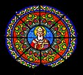 Stained-glass window of the Saint Martial Church of Marcillac-Vallon 01.jpg