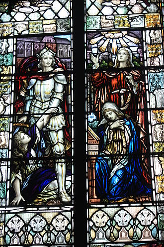 Dunning - Image: Stained glass by Bannantyne & Son, St Serfs, Dunning
