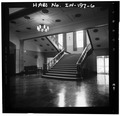 Stairway,from first floor - Gary Municipal Building, 401 Broadway, Gary, Lake County, IN HABS IND,45-GRAY,1-6.tif