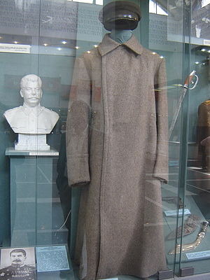 Central Armed Forces Museum - A hat and overcoat worn by Joseph Stalin