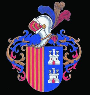 María de Zayas - Coat of arms of the old Castilian noble family de Zayas.