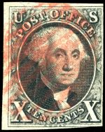 George Washington on 1847 stamp