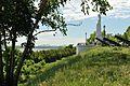 Statue de Marie-Immaculée et vue du pont de Québec.jpg