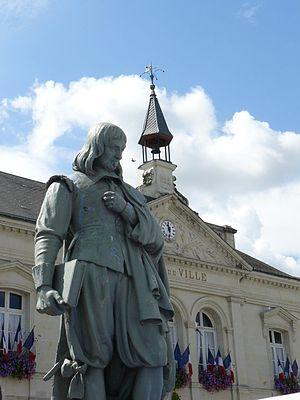 Français : statue de René DESCARTES à LA HAYE-...