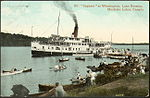 Steamer Sagamo at Woodington, Lake Rosseau, Muskoka Lakes, Canada.jpg