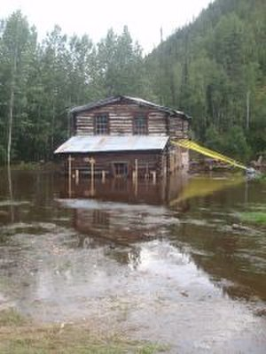 Steele Creek Roadhouse - The roadhouse during flooding in 2011