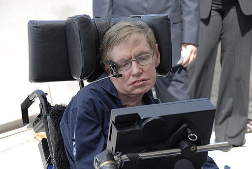 Stephen Hawking at Kennedy Space Center Shuttle Landing Facility KSC-07pd-0946