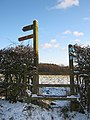 Stile and Fingerpost, Brown's Way, Beacon Lane - geograph.org.uk - 1626869.jpg