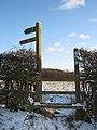 Stile and Fingerpost, Brown's Way, Beacon Lane - geograph.org.uk - 1626869.jpg