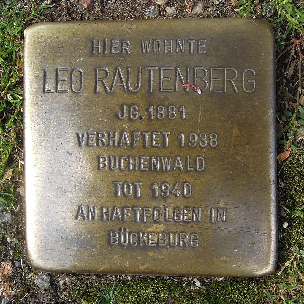 Stolperstein für Leo Rautenberg